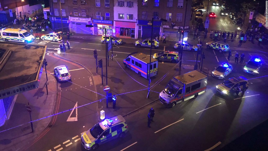 London's Metropolitan Police said officers were called just after midnight.