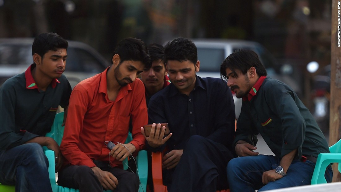Fans were engrossed and in Islamabad, young fans took in the action on their smart phones.