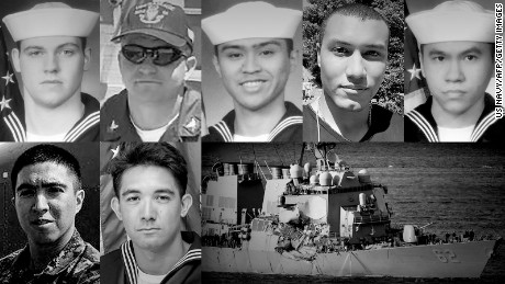 Remembering the seven USS Fitzgerald sailors