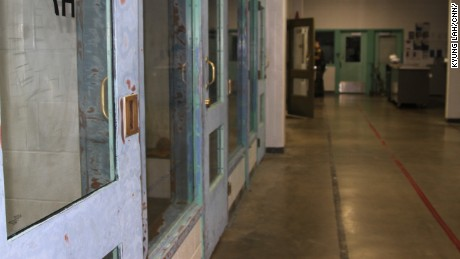 Orange County Jail holding cells. Inmates await transfer to ICE custody in the early morning.