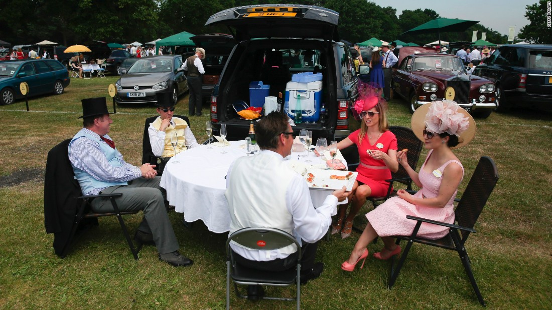 Lunch in the car park is a Royal Ascot tradition for many.