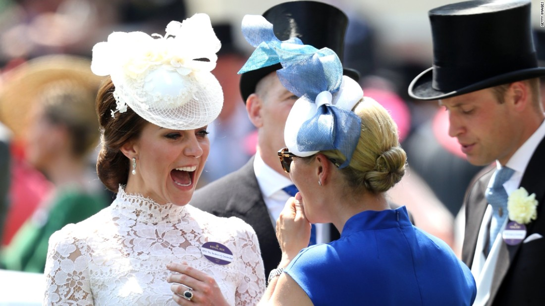 The Duchess of Cambridge shared a joke with Zara Philllips, daughter of Princess Anne.