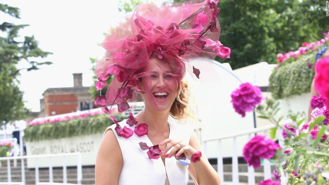 Hats are big and bold -- no fascinators are allowed in the Royal Enclosure.