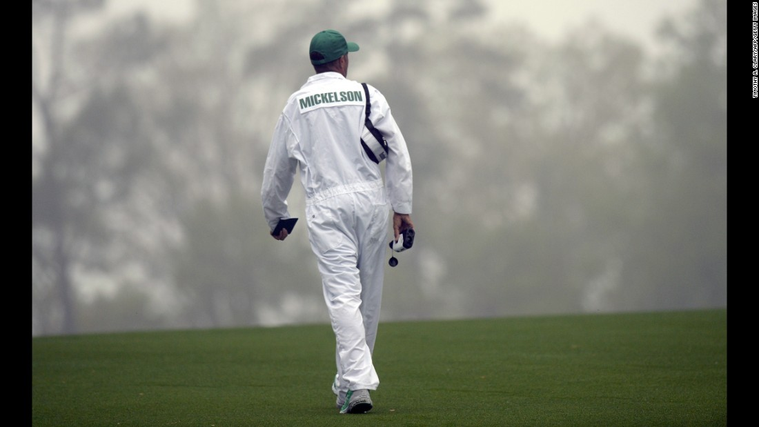 Mackay, 52, is known as one of the world's best and most assiduous caddies and regularly walks the golf course before a round to scout out pin positions and conditions.
