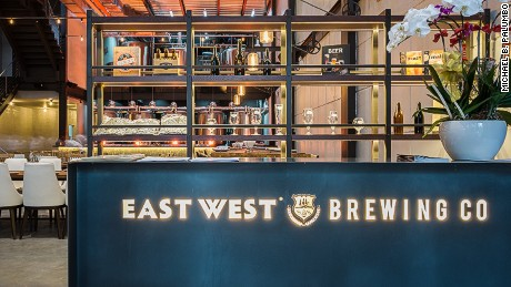 East West Brewing Company's set up.