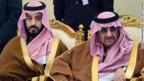 Mohammed bin Salman (L) has replaced Mohammed bin Nayef (R) as crown prince.