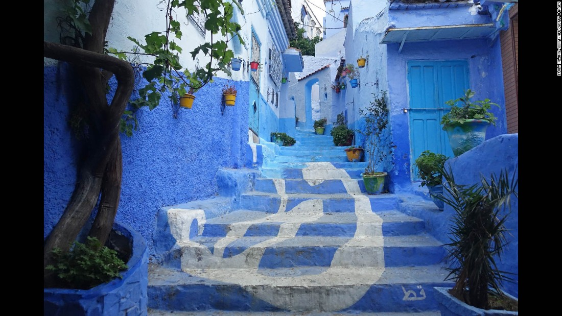 <strong>Chefchouen, Morocco: </strong>The town of Chefchouen in Morocco's Rif Mountains is famous for its blue-washed walls and maze-like streets.