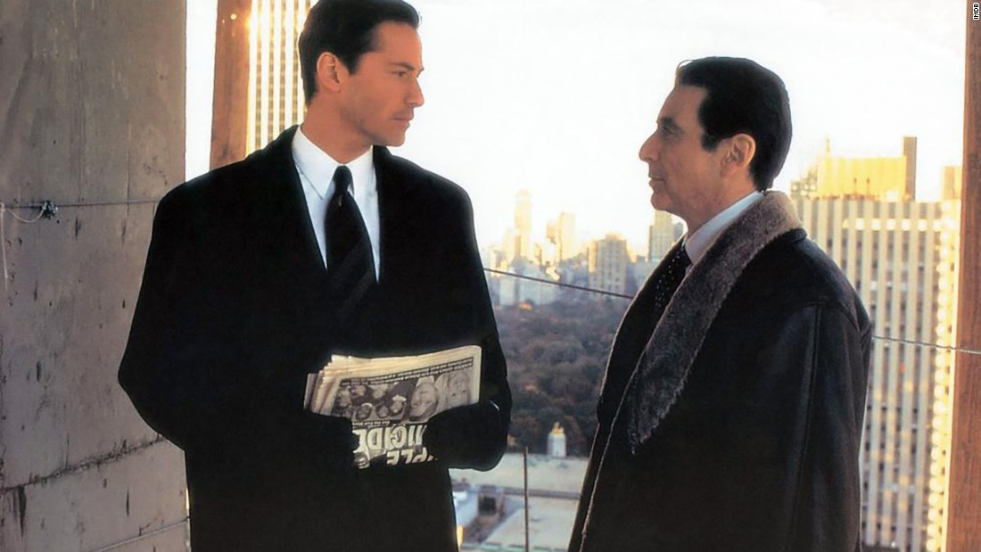 "<strong>""The Devil's Advocate"":</strong> Keanu Reeves and Al Pacino star in this horror film about an attorney whose life is turned upside down when he takes a job with a major firm. <strong>(Hulu)</strong>"