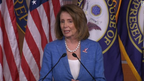 Nancy Pelosi speaks at her weekly presser on June 22, 2017.