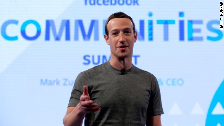 Facebook CEO Mark Zuckerberg speaks at the Facebook Communities Summit, in Chicago, in advance of an announcement of a new Facebook initiative designed to spur people to form more meaningful communities with Facebook's groups feature.