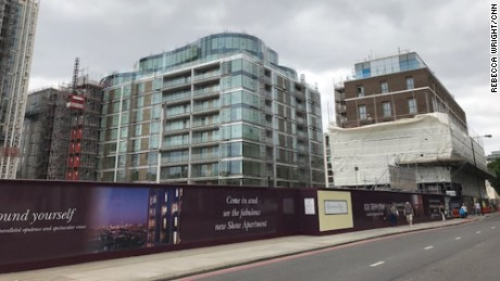 Mixed welcome for London fire victims at luxury complex
