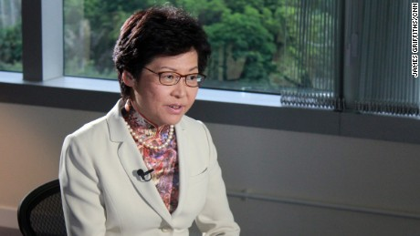 Incoming Hong Kong Chief Executive Carrie Lam speaks to CNN in Central on 22 June 2017.