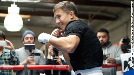 "SANTA MONICA, CA - FEBRUARY 28:  Gennady ""GGG"" Golovkin smiles while working out at the Wild Card Boxing Club in Santa Monica, California, February 8, 2017.  (Photo by Josh Lefkowitz/Getty Images)"