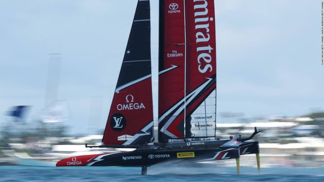 Emirates Team Zealand have been flying in the early stages of the 2017 America's Cup match.