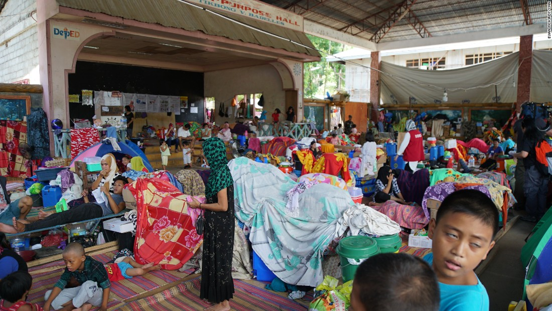 Over 1,000 people, mainly Muslims, have made the camp in Barangay Maria Christina their temporary home.