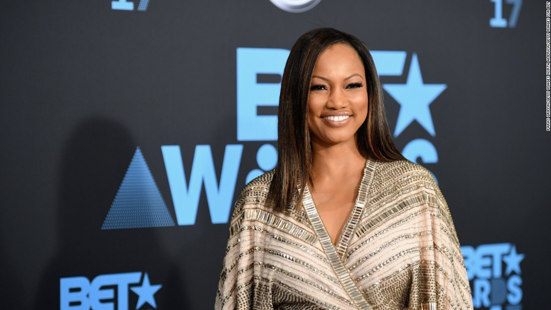 Actress Garcelle Beauvais arrives at the 2017 BET Awards.