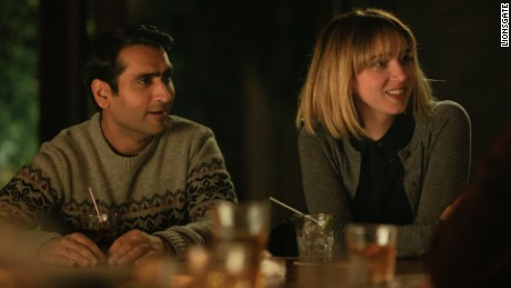 "Kumail Nnanjiani and Zoe Kazan in a scene from ""The Big Sick."""