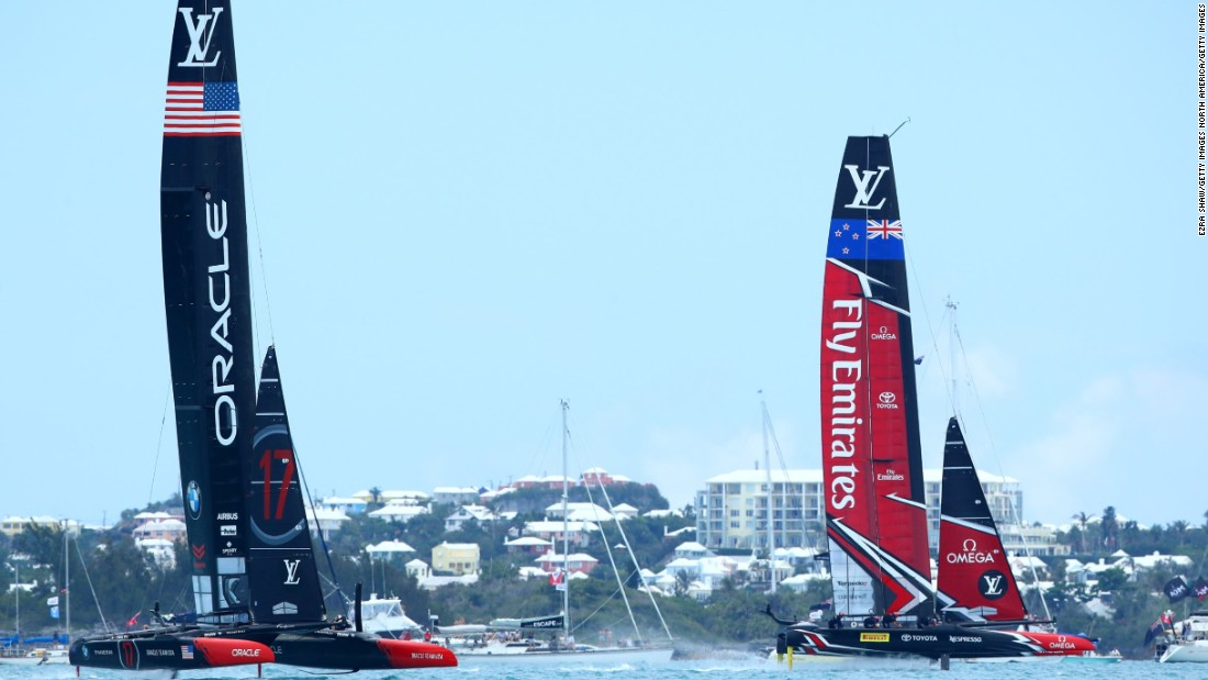 The American team have found themselves consistently trailing Emirates Team New Zealand in Bermuda to date.