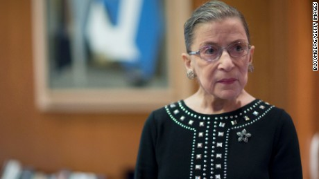 Ruth Bader Ginsburg, associate justice of the U.S. Supreme Court, stands in her chambers following an interview in Washington, D.C., U.S., on Friday, Aug. 23, 2013. Ginsburg, 80, the oldest member of the Supreme Court and appointed to the court in 1993 by Democratic President Bill Clinton, has said on several occasions that she wants to match the longevity of Justice Louis Brandeis, who was 82 when he stepped down in 1939.