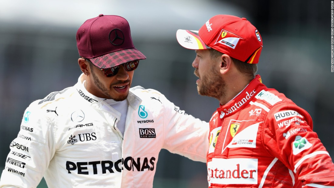 Hamilton and Vettel look set to go toe-for-toe in this year's championship battle. Hamilton, runner-up in 2016, currently trails his rival by 14 points with 12 races remaining this season.