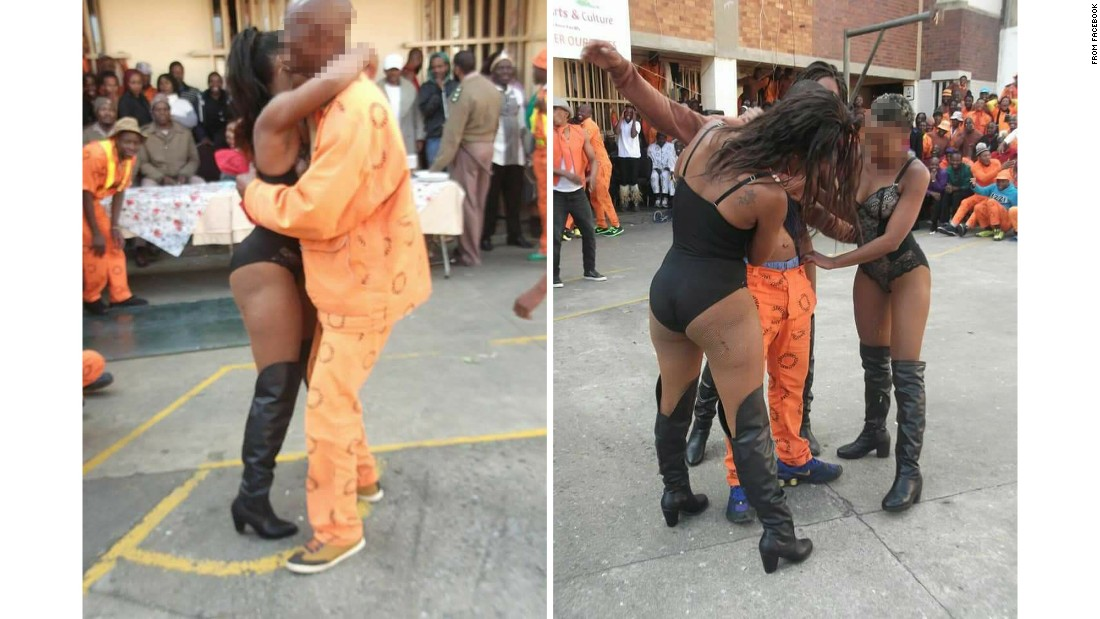 Photos of alleged strippers at South African prison prompt investigation