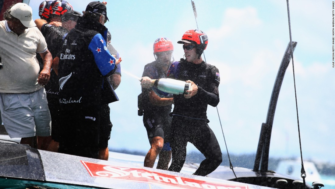 Burling, at the age of 26, becomes the youngest winning helmsman in the history of the America's Cup.