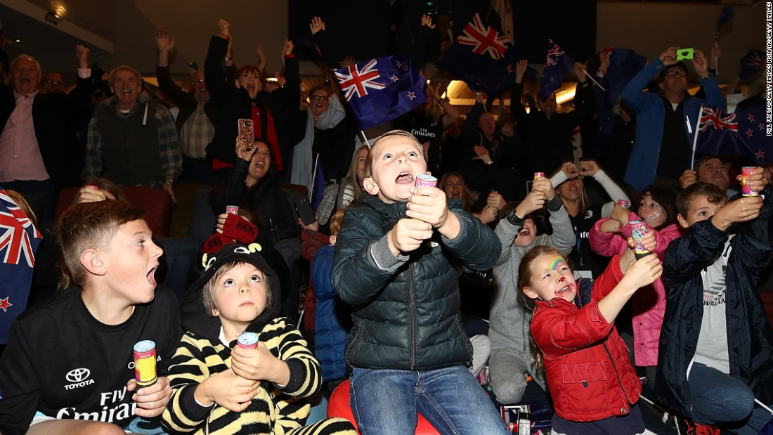Fans young and old gathered at the Royal New Zealand Yacht Squadron in Auckland to watch and, eventually, celebrate.