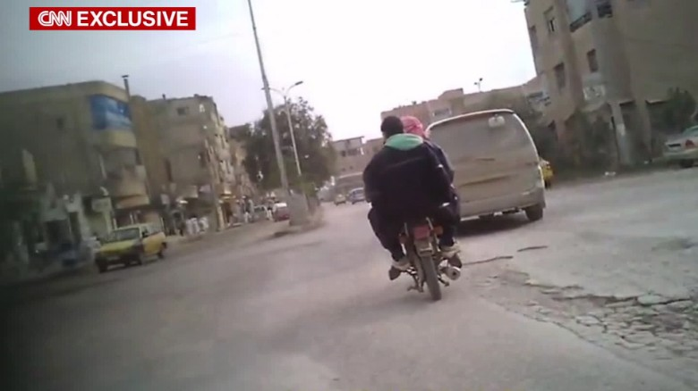 syria raqqa isis undercover video paton walsh pkg_00003603