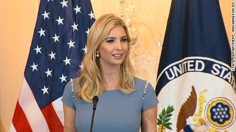 Ivanka Trump spotlights global human trafficking
