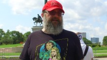 """Robert Warren Ray, pictured in 2017, is a neo-Nazi known as """"Azzmador."""""""