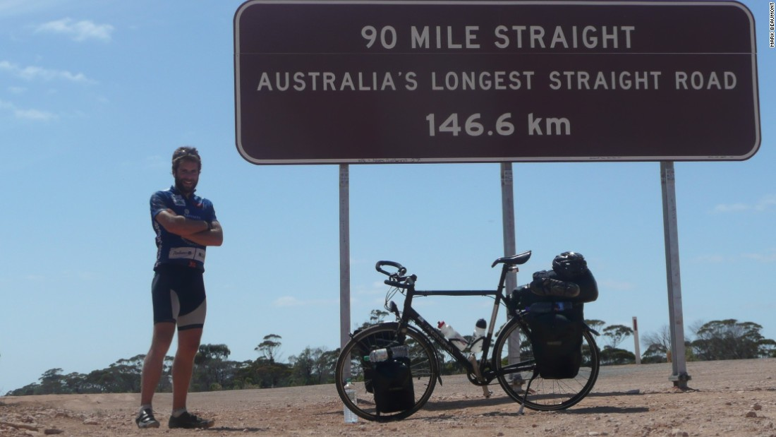 Beaumont's world tour begins in Paris and will take him 18,000 miles through 14 countries over four stages.
