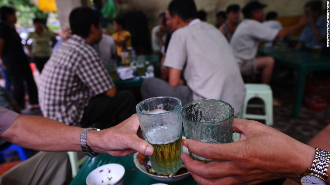 The usual nightlife scene in Vietnam revolves around drinking Bia Hoi -- most commonly consumed street-side on tiny plastic stools. At 30 cents a pint, it's a light and easy choice with just 3% alcohol content.