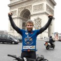 Mark Beaumont celebrates