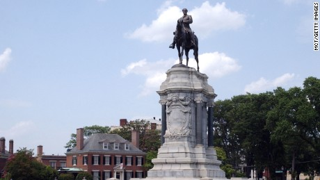 The Gen. Robert E. Lee Monument is located on Monument Avenue in Richmond, Virginia. The large equestrian statue, which depicts the Confederate commander on his horse, Traveller, was created by French sculptor Jean Antonin Merci, and unveiled on May 29, 1890.