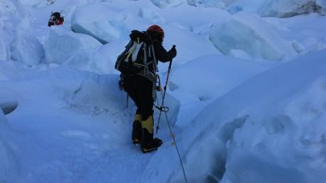 Jamsenpa says the idea to do a double ascent came from her sherpa, during her very first climb.
