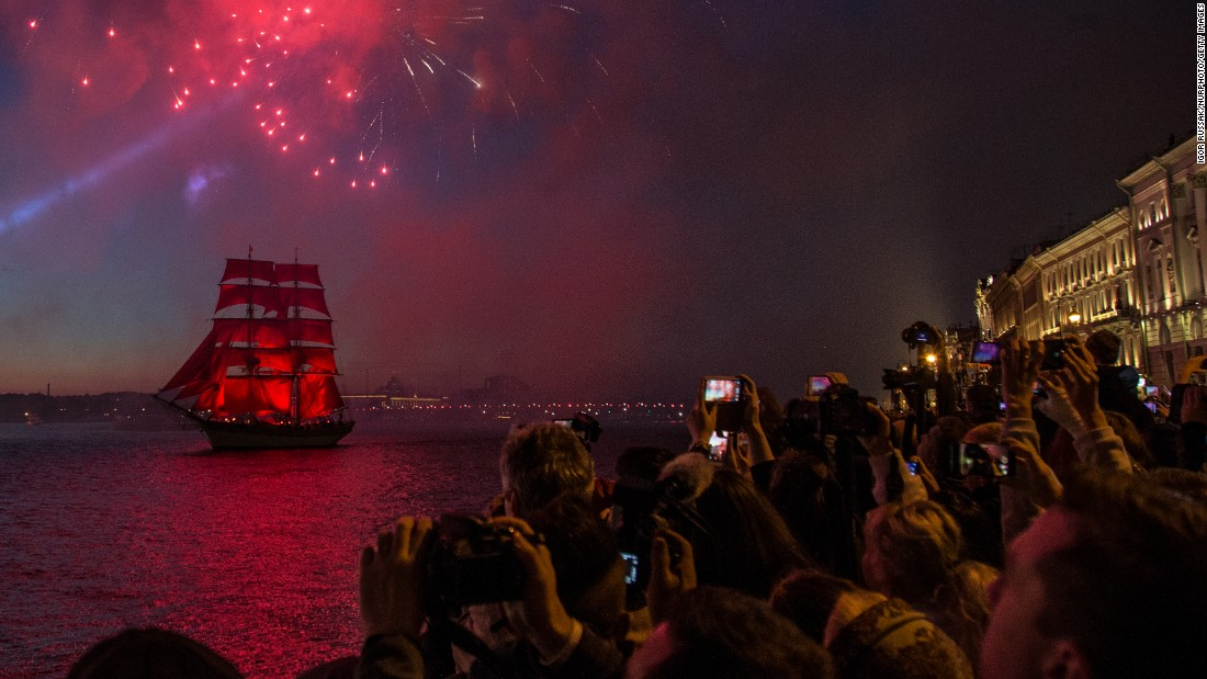 "Swedish brig Tre Kronor floats with scarlet sails on the Neva River in St. Petersburg, Russia, on Saturday, June 24, during the Scarlet Sails festivities that marks school graduation. <a href=""http://www.cnn.com/2017/06/22/world/gallery/week-in-photos-0622/index.html"" target=""_blank"">See last week in 24 photos</a>."