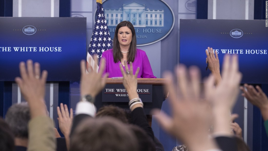 "White House Deputy Press Secretary <a href=""http://www.cnn.com/2017/06/28/politics/donald-trump-sarah-huckabee-sanders-media/index.html"" target=""_blank"">Sarah Huckabee Sanders speaks at a press briefing</a> on June 27, in which she faced questions on the Republican-crafted healthcare bill to replace the Affordable Care Act."