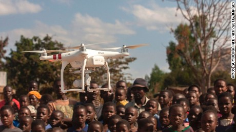 UNICEF is pilot testing the use of drones for humanitarian purposes in Kasungu District.
