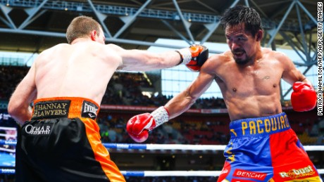 Australian boxer Jeff Horn takes on Manny Pacquiao at Suncorp Stadium in Brisbane on July 1, 2017.