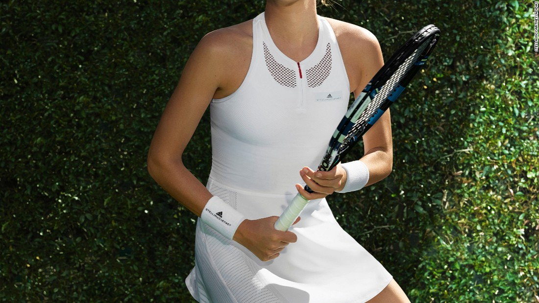 McCartney took inspiration from vintage white lingerie for her Wimbledon dresses -- the All-England Lawn Tennis Club has a strict all-white dress code for players.