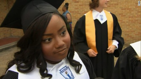 Jasmine Shepard, co-valedictorian of Cleveland High School in Cleveland, Mississippi.