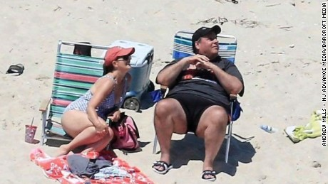chris christie beached moos