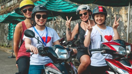 "Lien Nguyen founded and runs her company ""I Love Hue Tour,"" an all-female-run bike company that guides tourists by means of Hanoi's beloved motorbike."