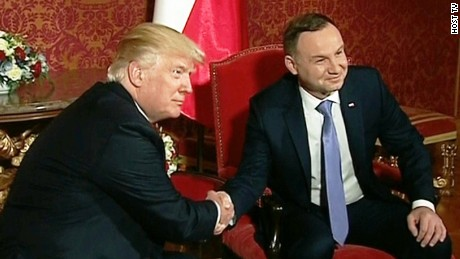 Trump starts crucial foreign trip with Polish visit