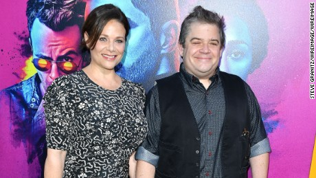 "Patton Oswalt, Meredith Salenger arrives at the Premiere Of AMC's ""Preacher"" Season 2 at The Theatre at Ace Hotel on June 20, 2017 in Los Angeles, California."