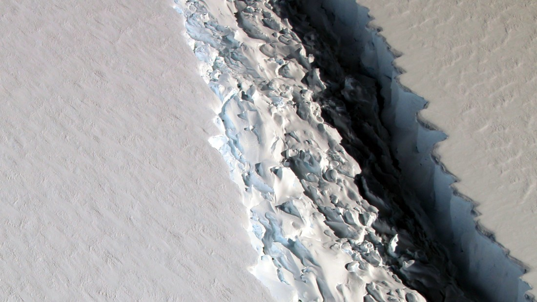 One of the world's biggest icebergs closer to splitting from Antarctica