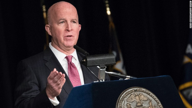 NYPD commissioner James O'Neill to step down