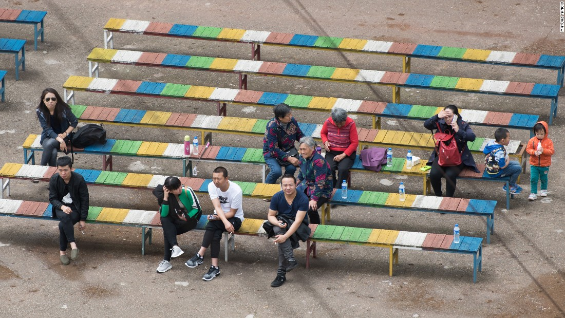 Tourists wait for the performers in the main arena. Entry costs 100 yuan ($15) per person.