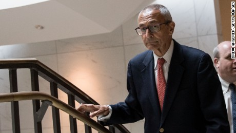 WASHINGTON, DC - JUNE 27: Former Hillary Clinton Campaign Chairman John Podesta exits after meeting with the House Intelligence Committee on Capitol Hill, June 27, 2017 in Washington, DC. Podesta's personal email account was hacked in the final months of the 2016 campaign and later published on WikiLeaks. (Photo by Drew Angerer/Getty Images)
