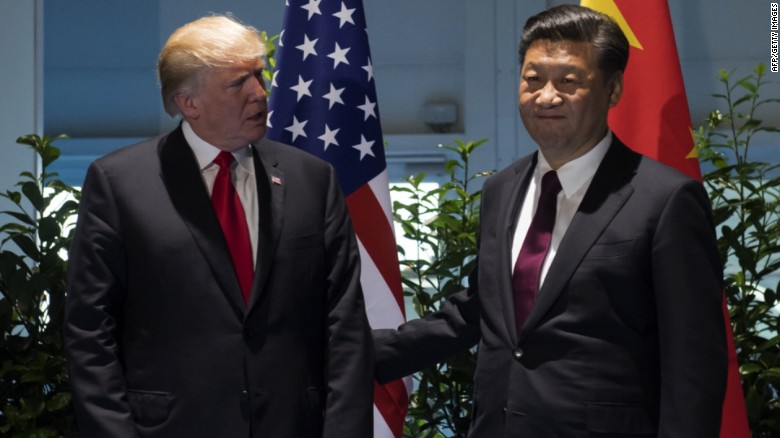 Trump, China's president discuss North Korea